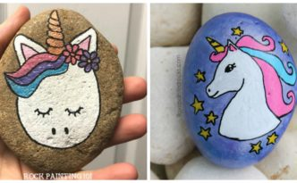 diy4ever- Adorable DIY Unicorn Rock Painting - Free Tutorial