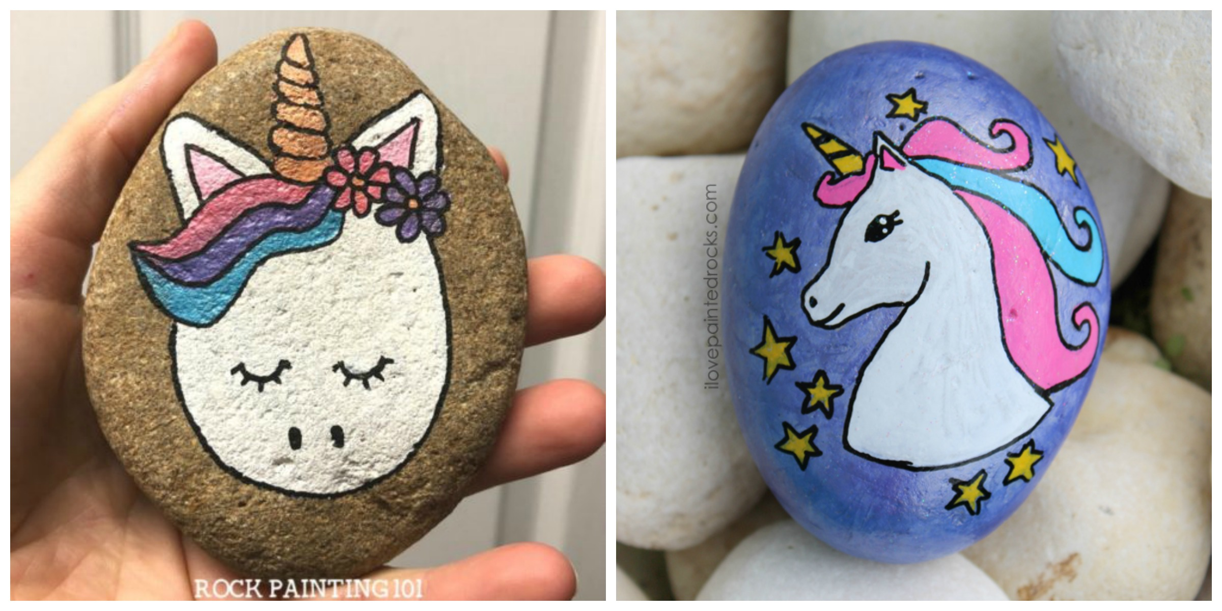 Adorable DIY Unicorn Rock Painting – Free Tutorial