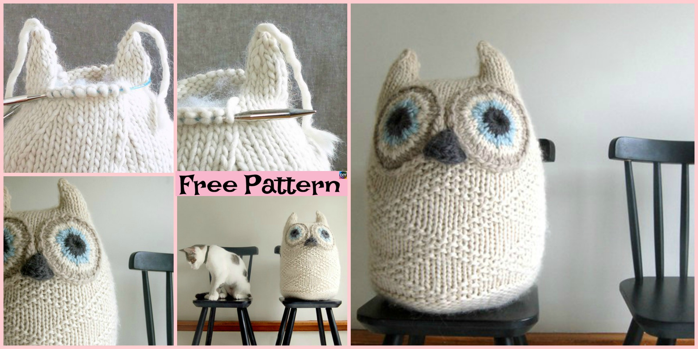 Adorable Knit Big Snowy Owl – Free Pattern