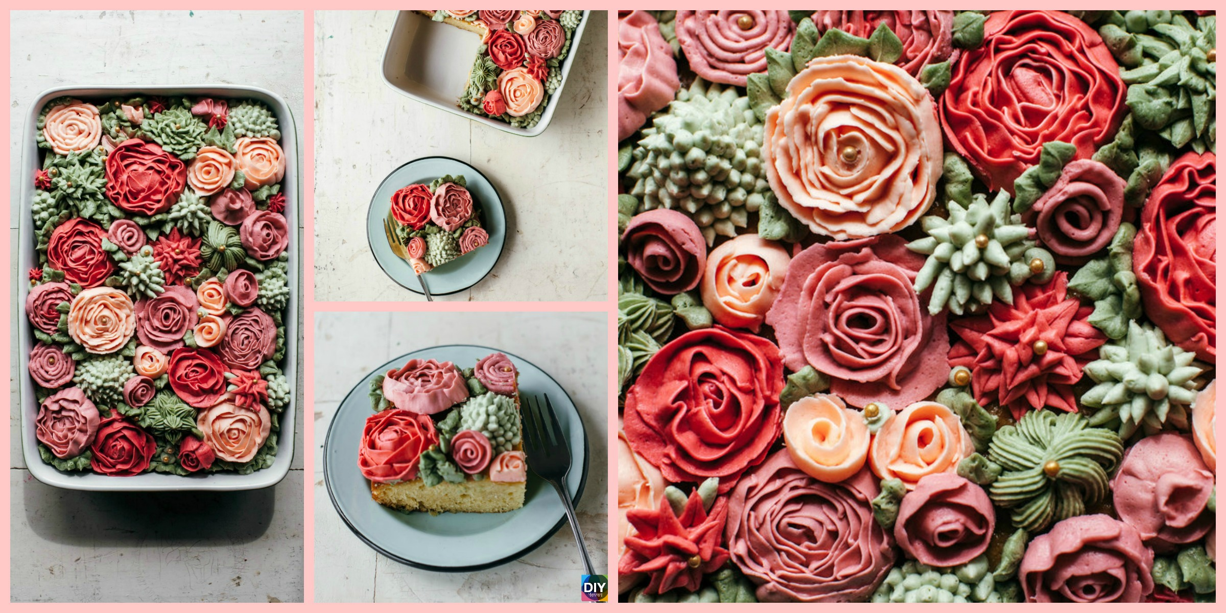 Amazing DIY Rose Cake – Step by Step Tutorial