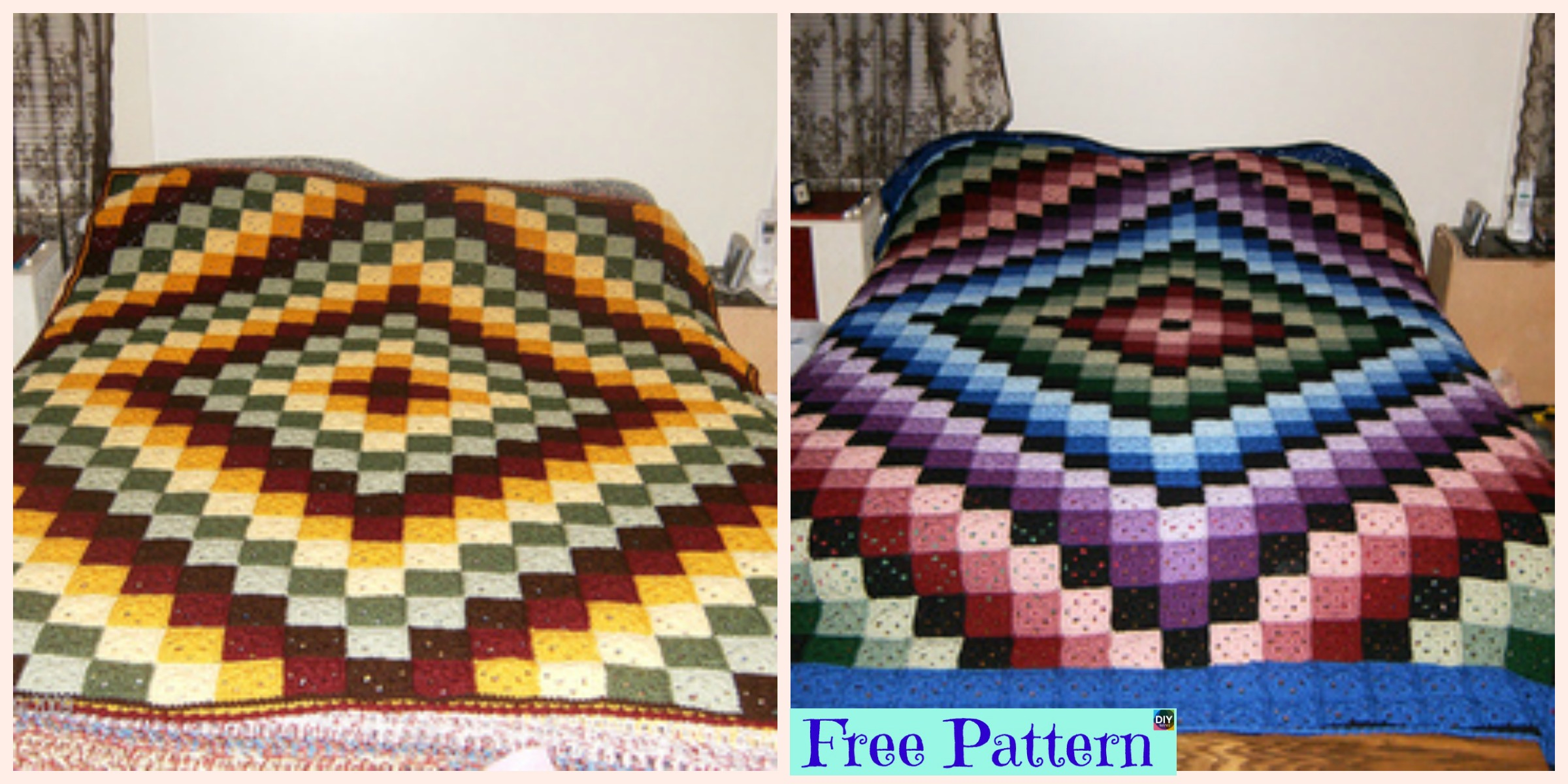 Beautiful Crochet Around World Quilt – Free Pattern