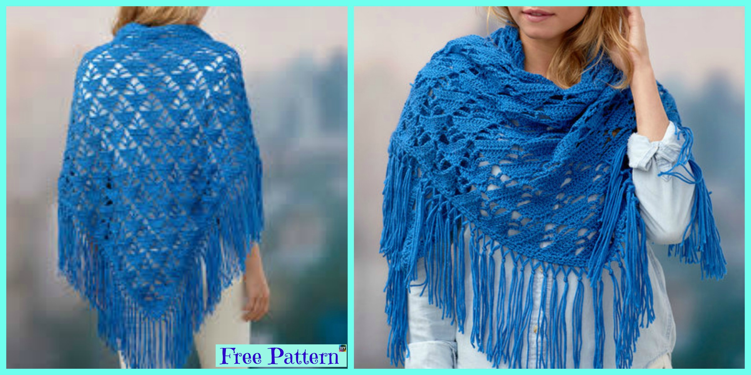 Beautiful Crochet Boho Shawl – Free Pattern