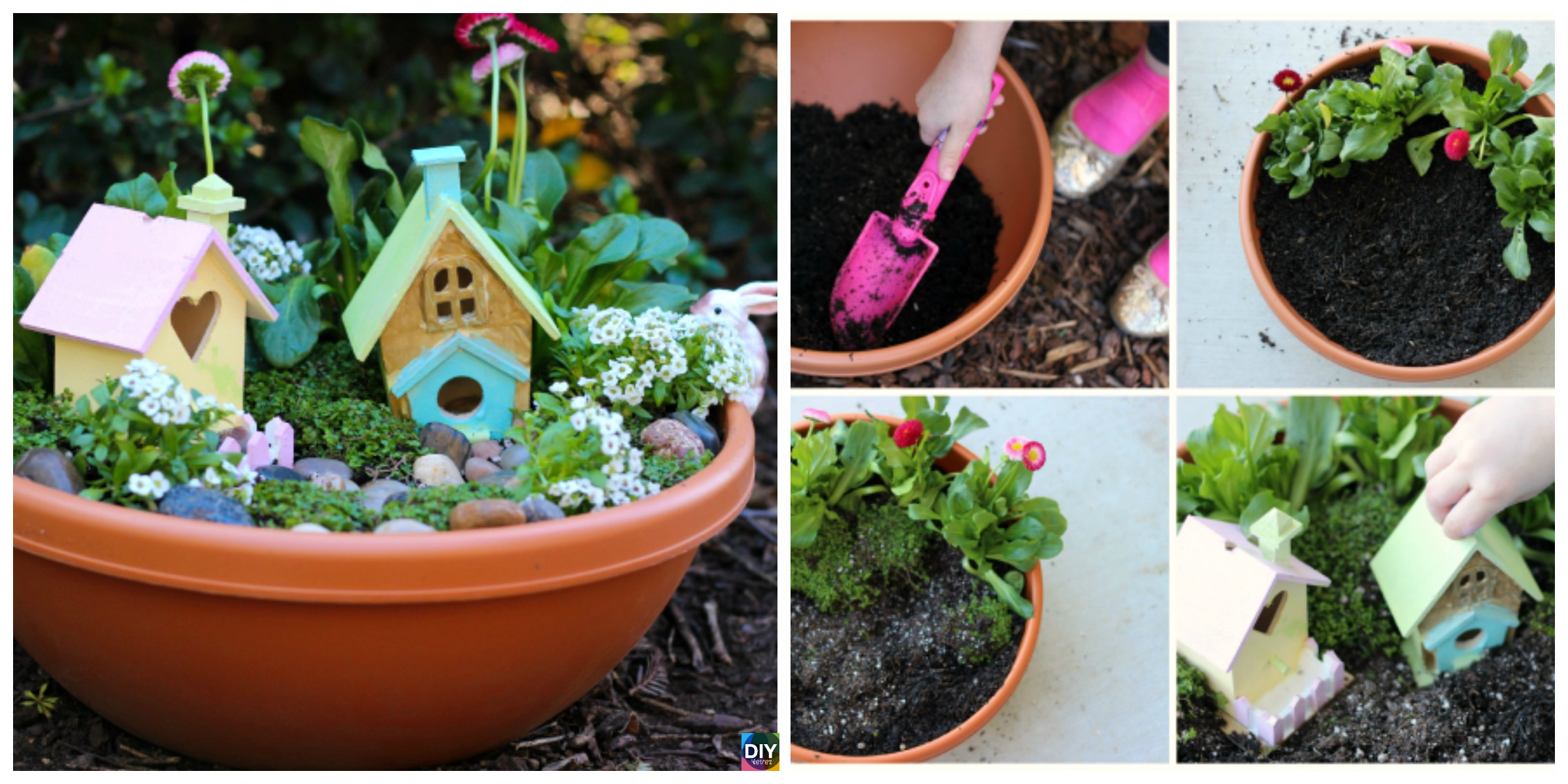 Beautiful DIY Kids Fairy Garden – Free Tutorial