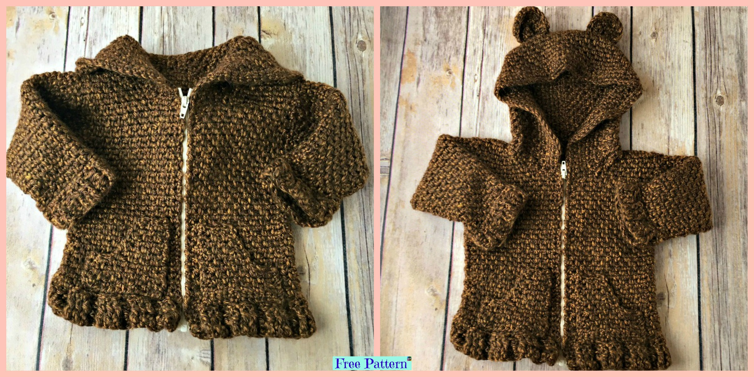 Crochet Baby Bear Cardigan – Free Patterns