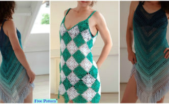 Crochet Beach Dress Cover - Free Patterns
