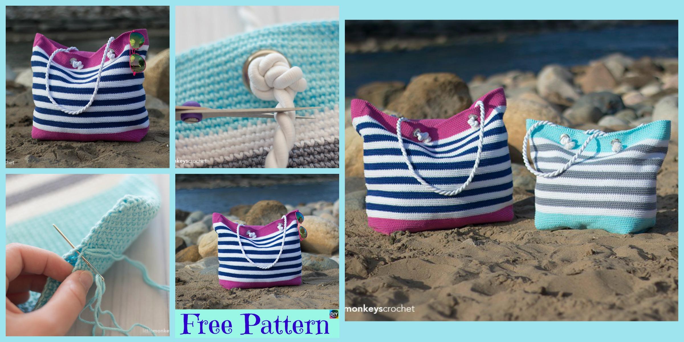 Crochet Classic Beach Bag – Free Pattern
