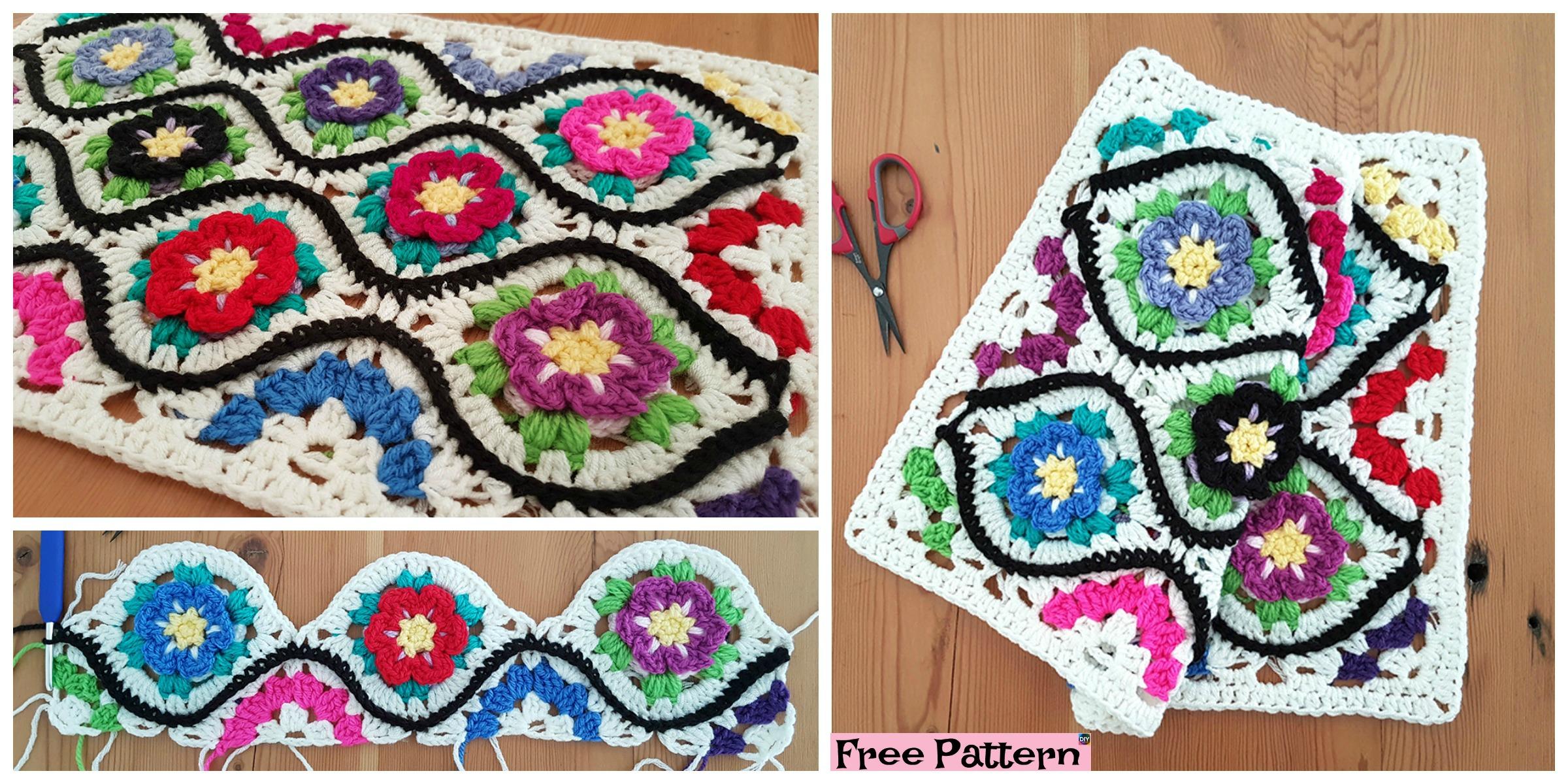 Crochet Moroccan Garden Afghan  – Free Pattern