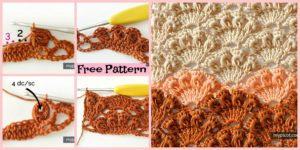 diy4ever-Crochet Shell Stitch Tutorial - Free Pattern