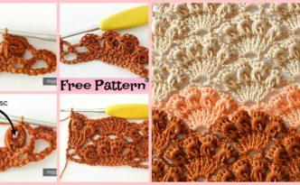 diy4ever-Crochet Shell Stitch Tutorial - Free Pattern