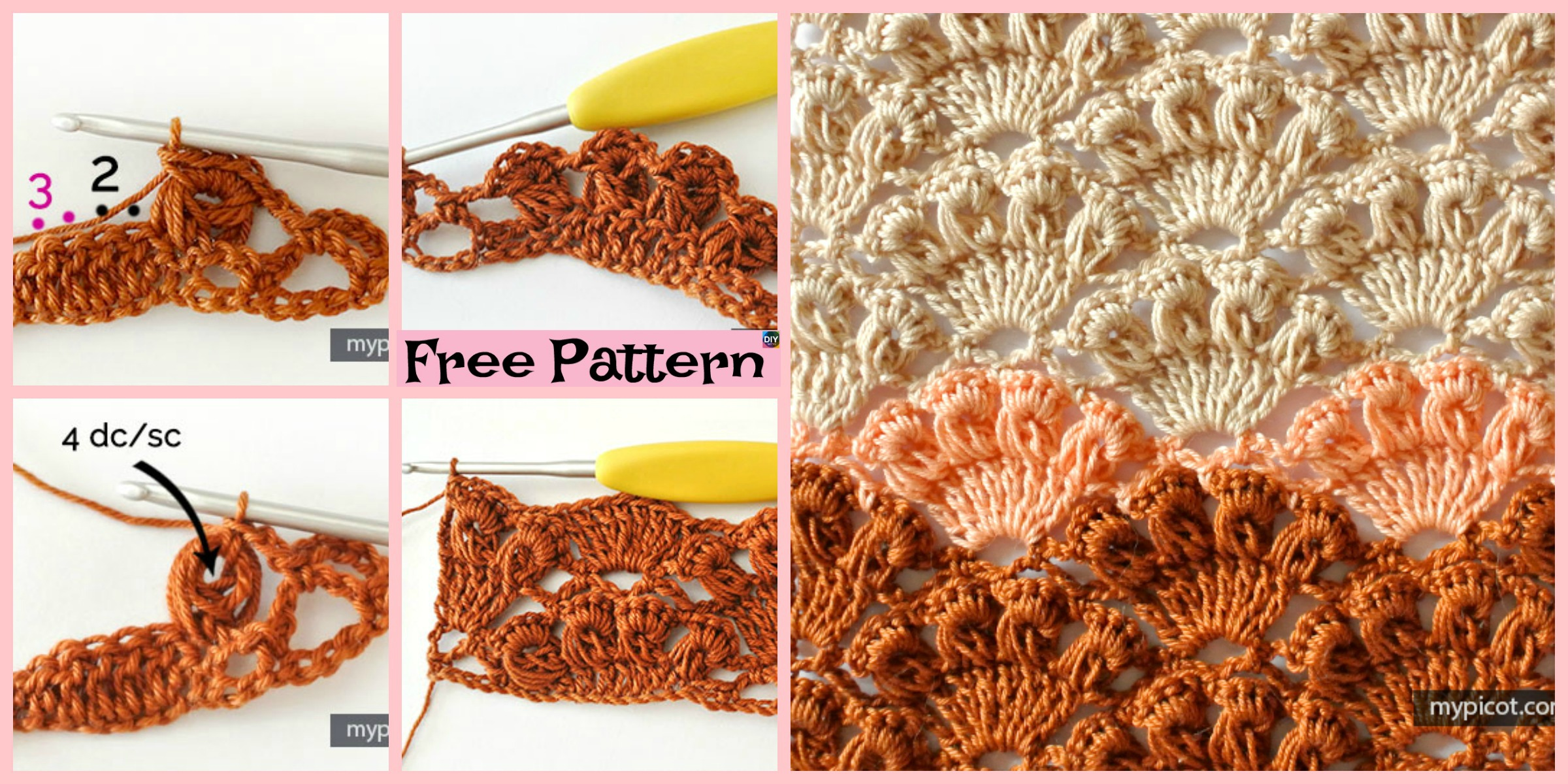 Crochet Shell Stitch Tutorial – Free Pattern