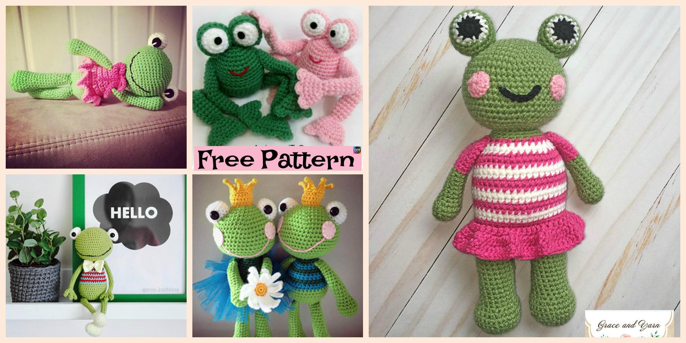 Cute Crochet Amigurumi Frog – Free Patterns