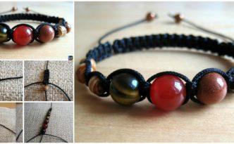 diy4ever-DIY Shamballa Bracelet Tutorial - Step by Step
