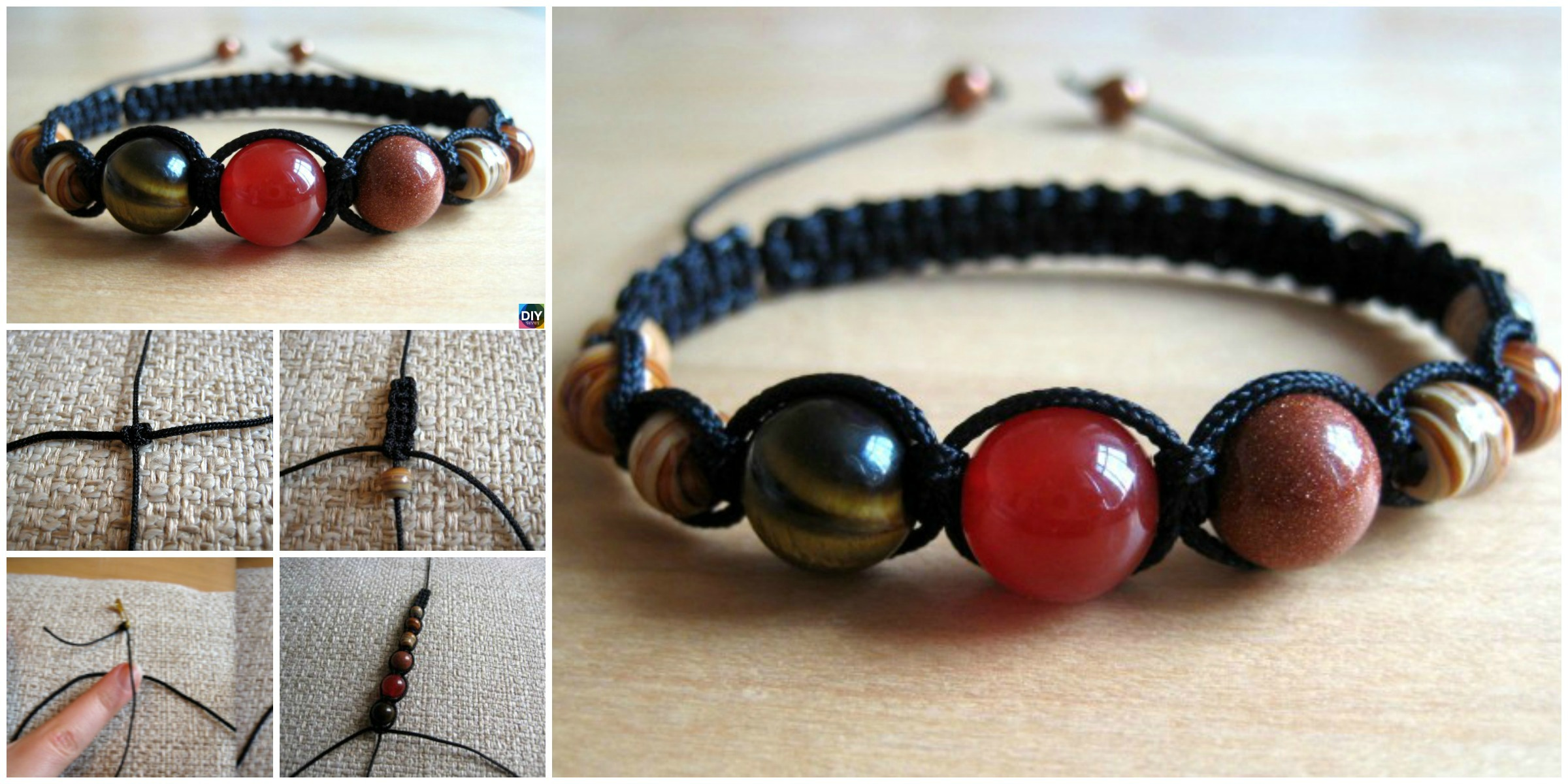 DIY Shamballa Bracelet Tutorial – Step by Step