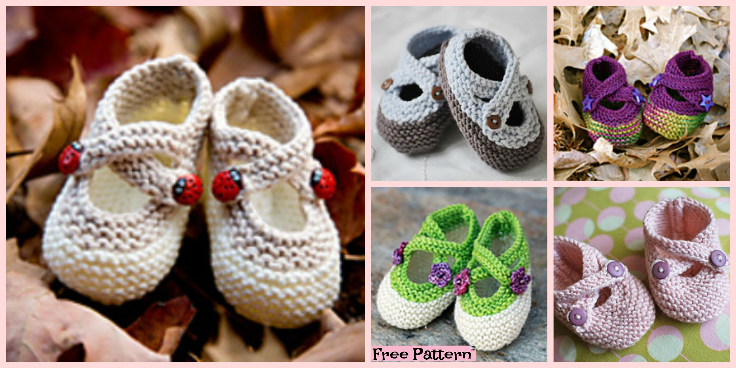 Knitted Adorable Baby Booties – Free Pattern