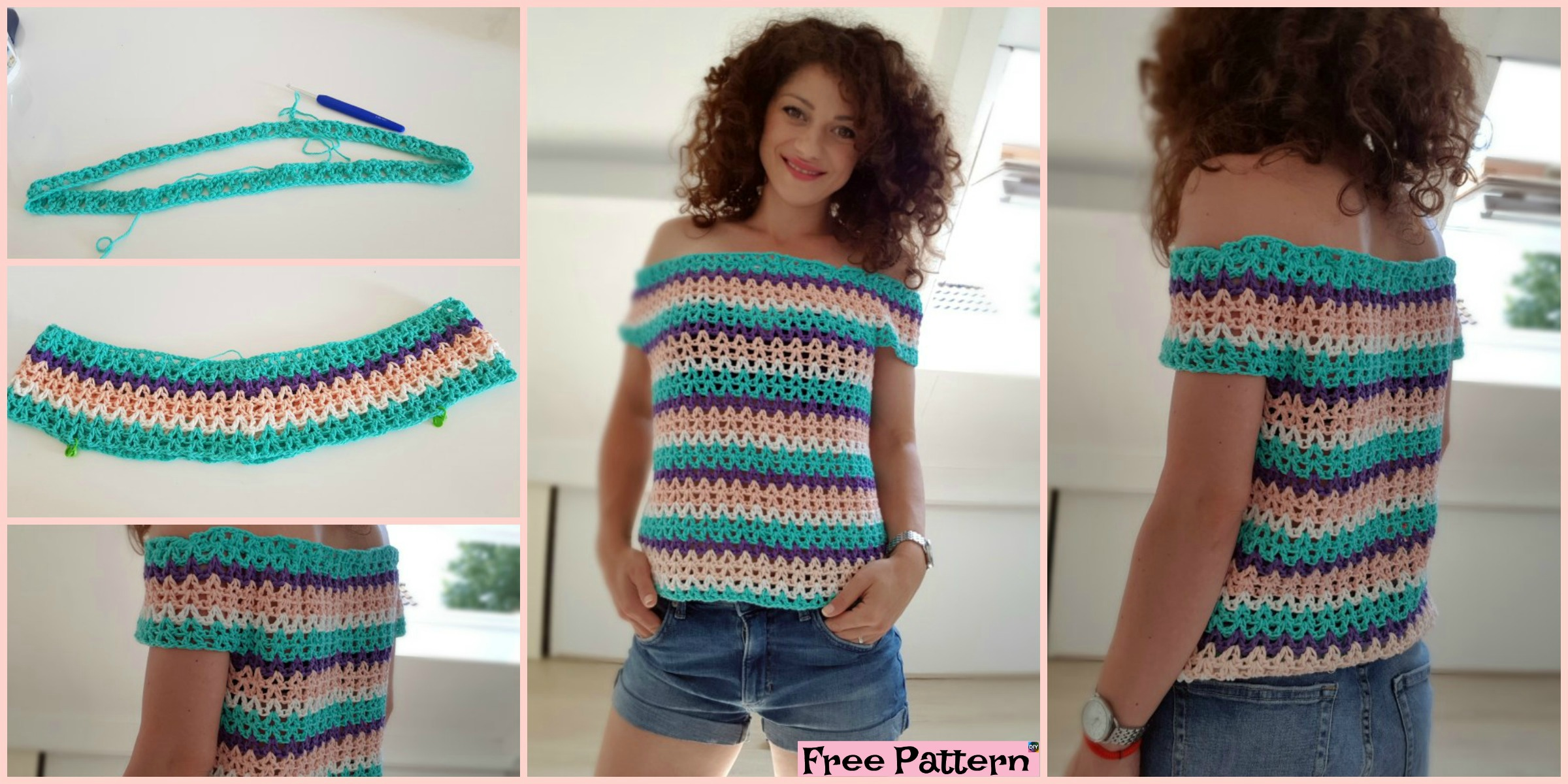 Pretty Crochet Summer  Blouse – Free Pattern