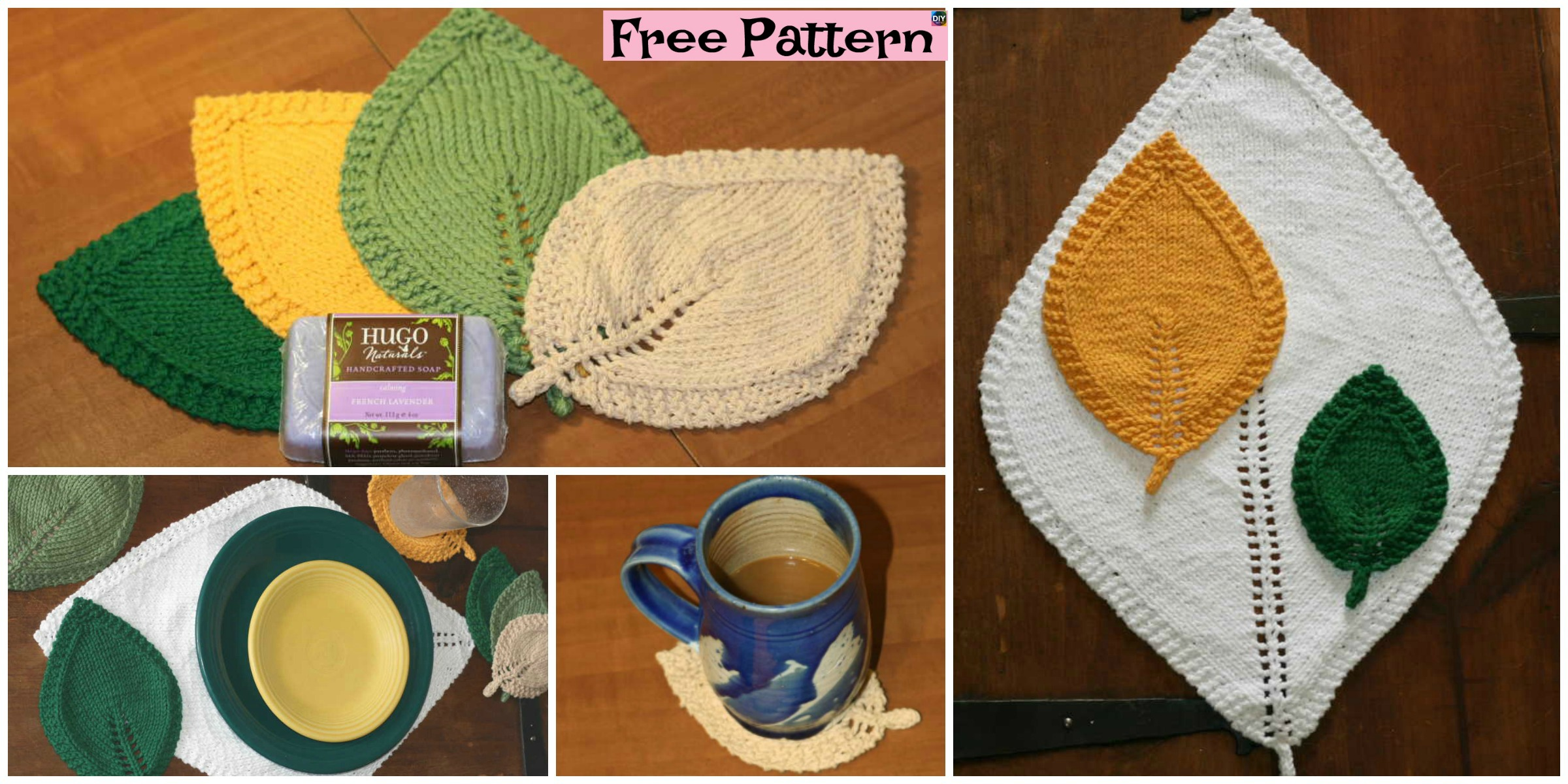 Pretty Knitted Leaf In Three Sizes – Free Pattern