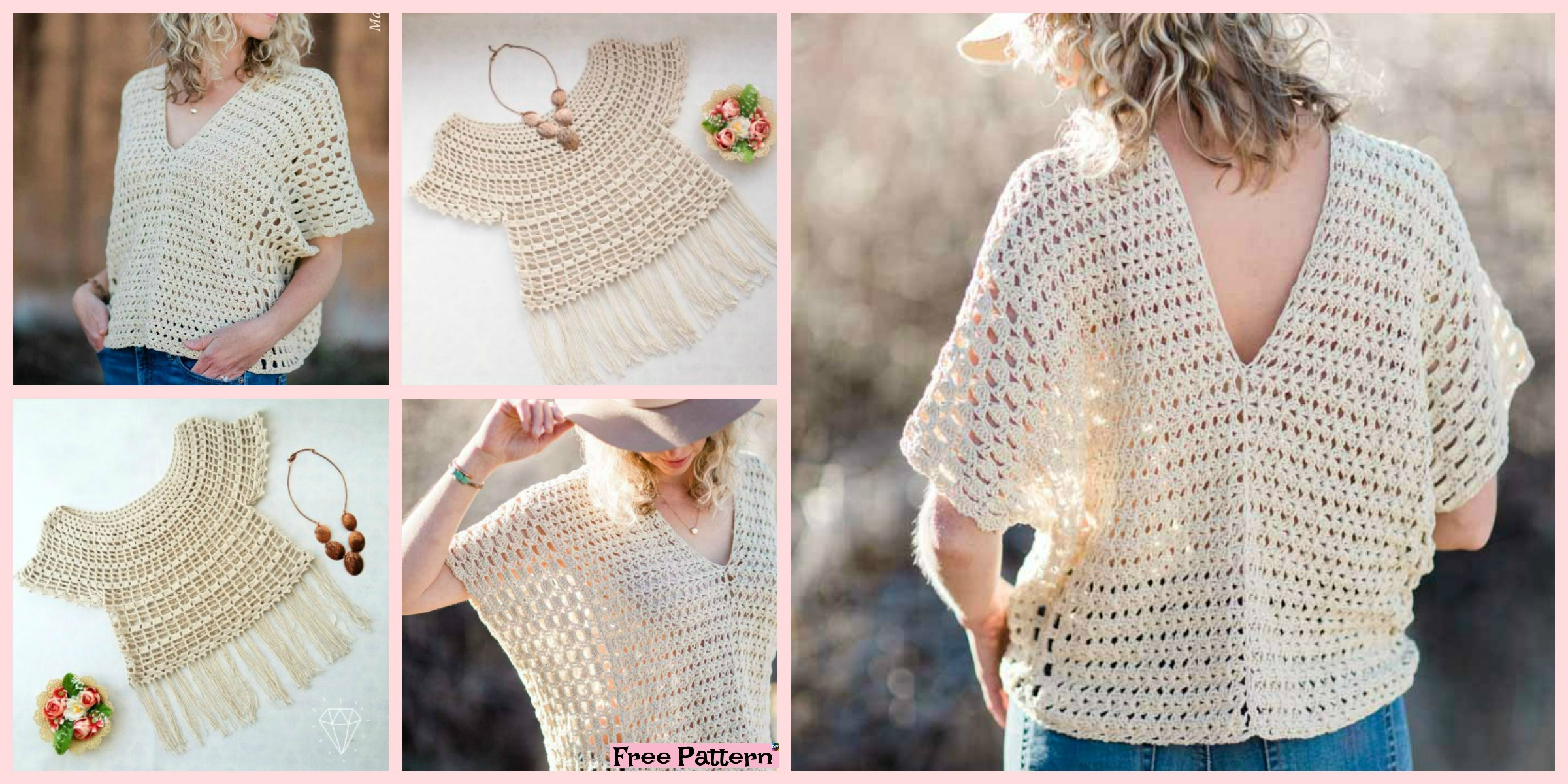 Stylish Crochet Summer Top – Free  Patterns