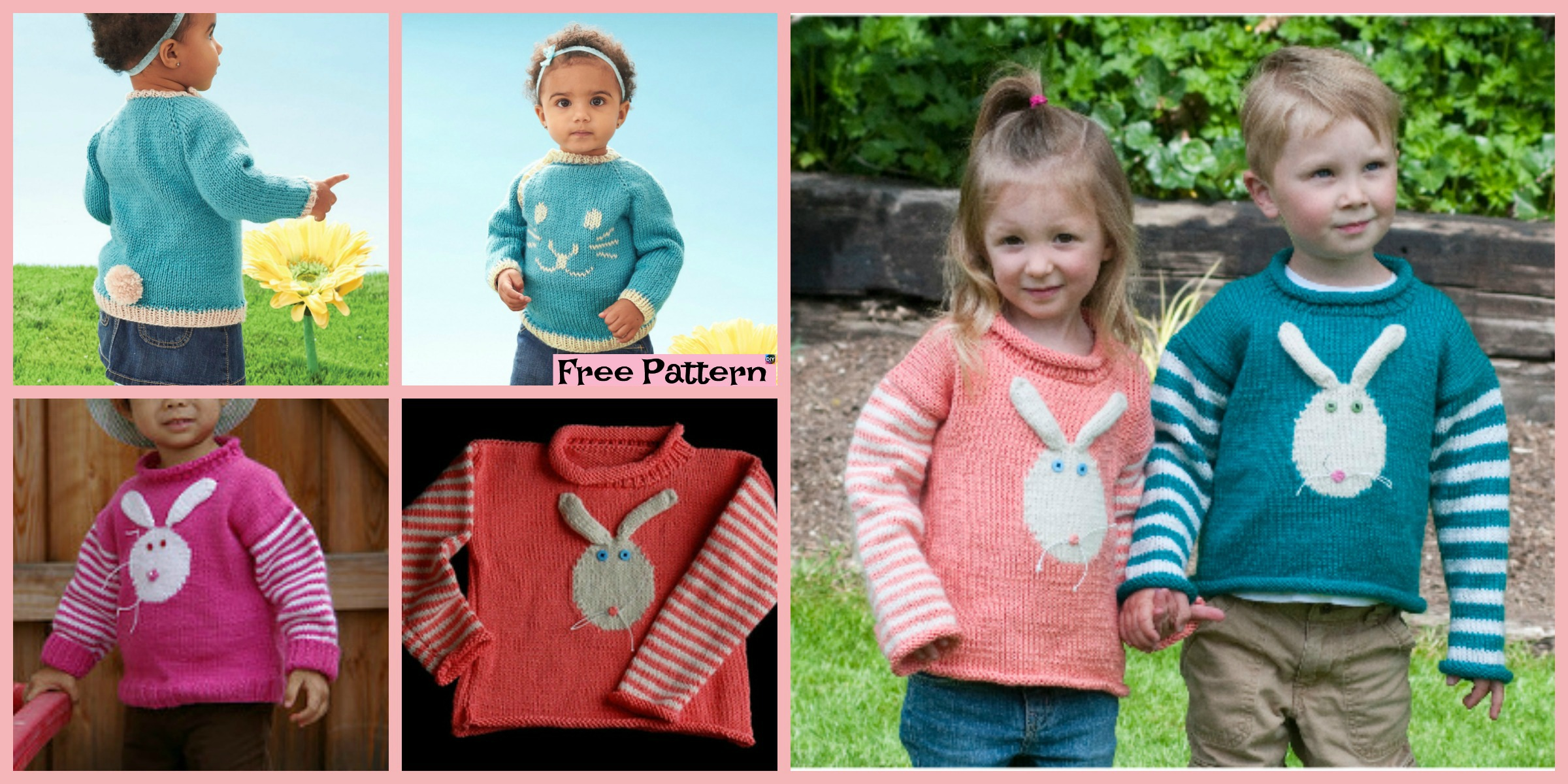 Super Cute Knit Bunny Pullover – Free Patterns