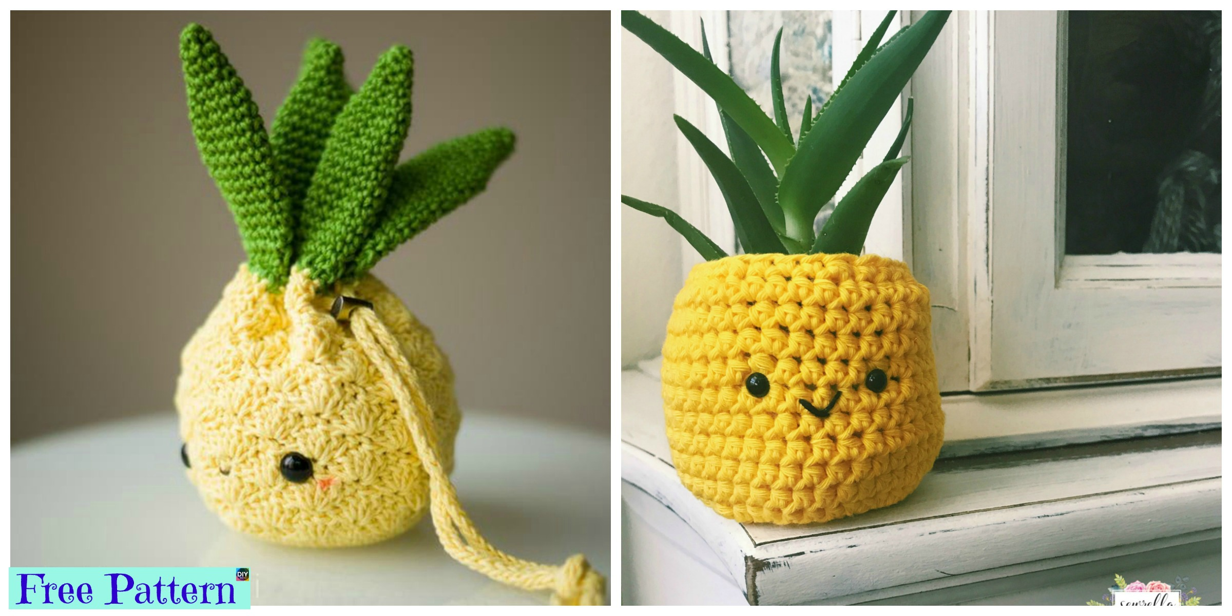 Crochet Amigurumi Pineapple Design – Free Patterns