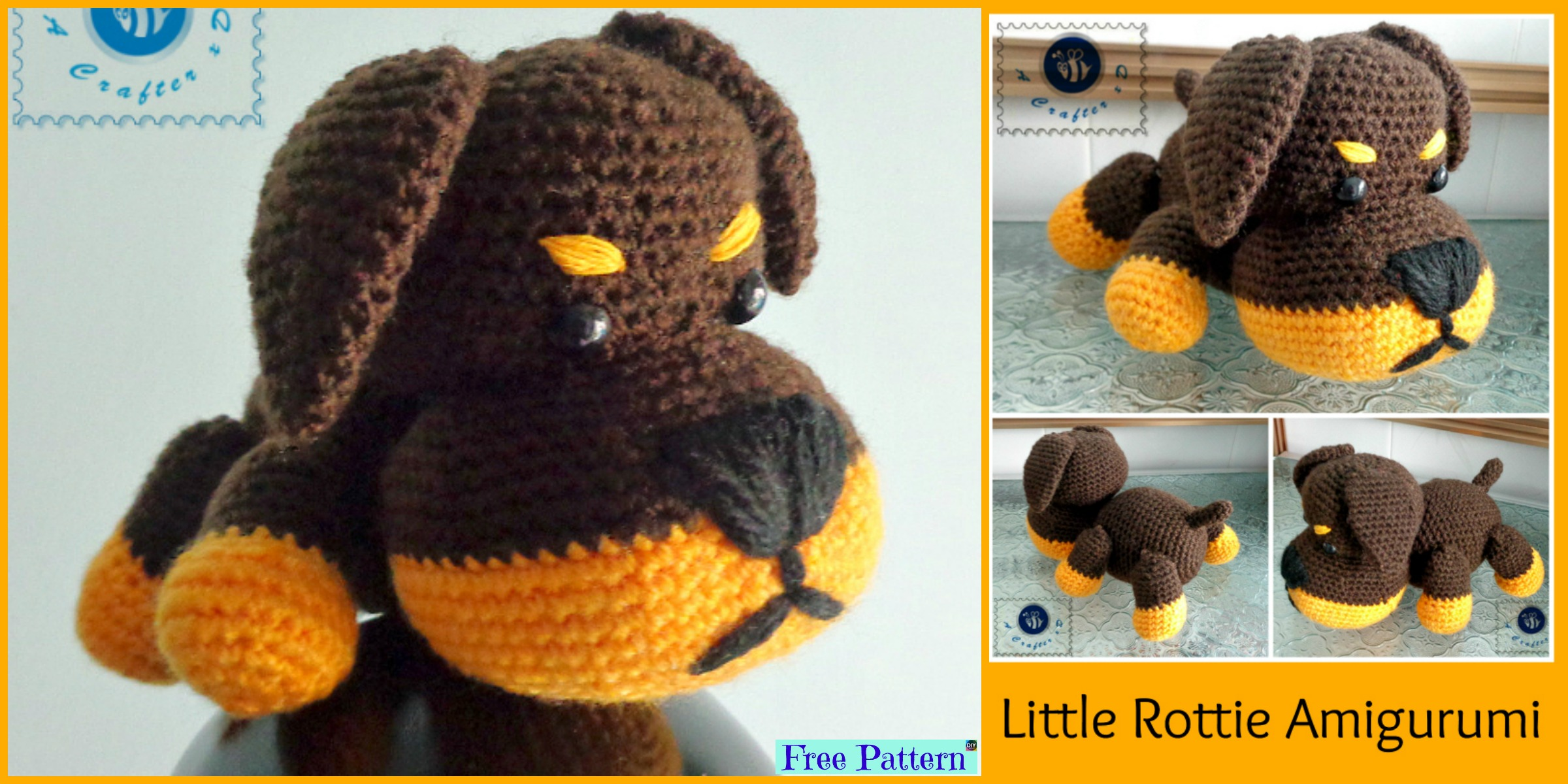 Adorable Crochet Little Puppy – Free Pattern