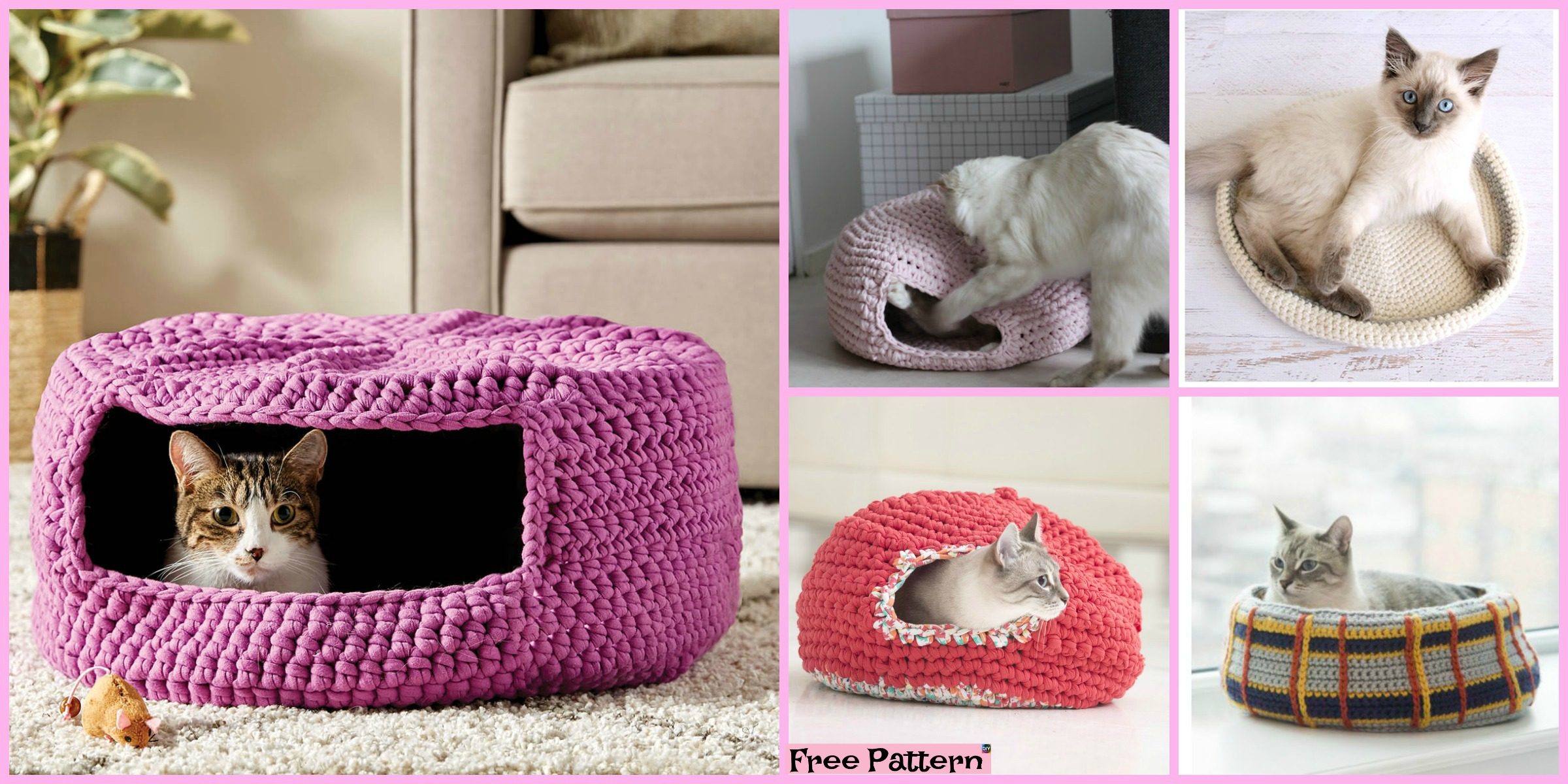 10 Awesome Crochet Cat Bed – Free Patterns