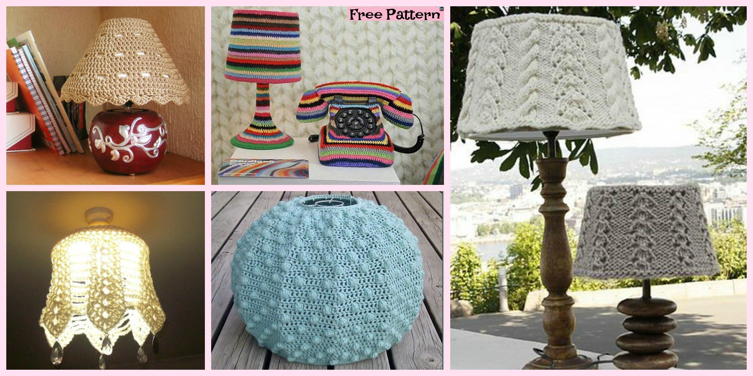 10+ Beautiful Crochet Lampshade – Free Pattern