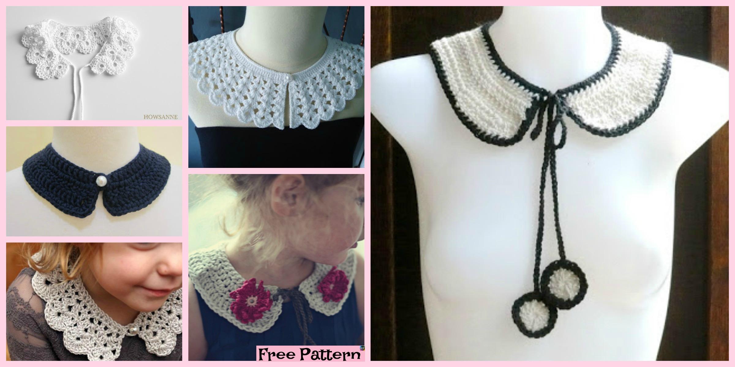 12 Pretty Crochet Simple Collar Free Patterns