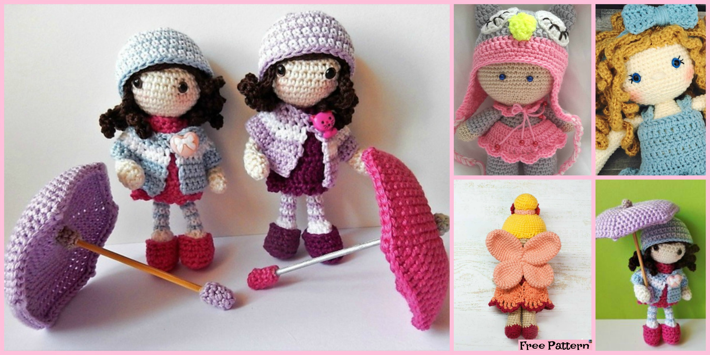 8 Cuest Crochet Doll Amigurumi Free Patterns