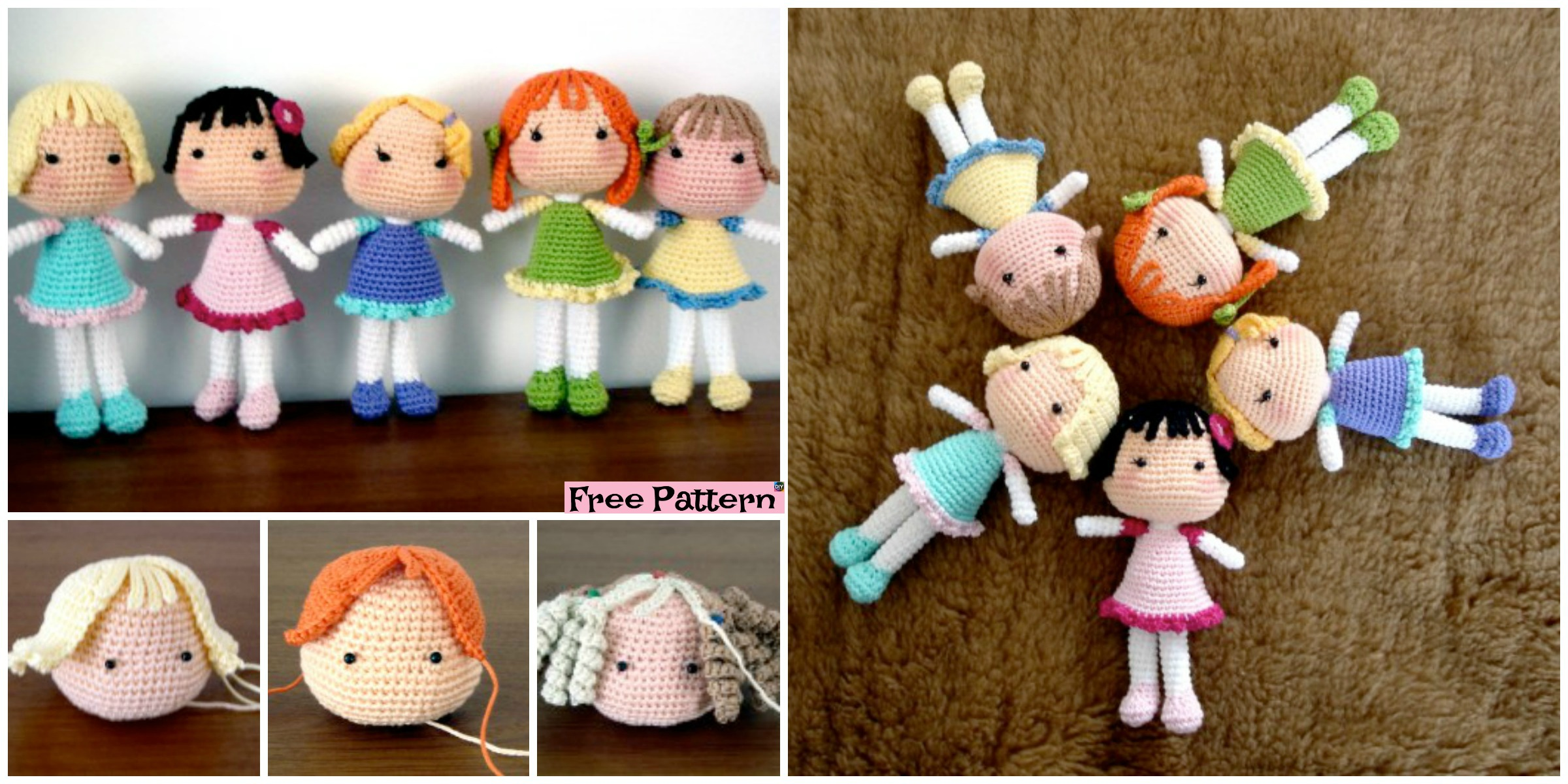 Amigurumi Molly Doll-Free Pattern | Crochet dolls free patterns ... | 1200x2400