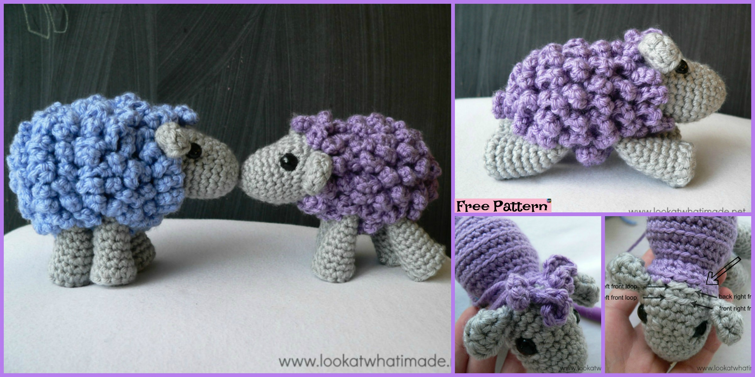 Adorable Crocheted Sheep – Free Pattern