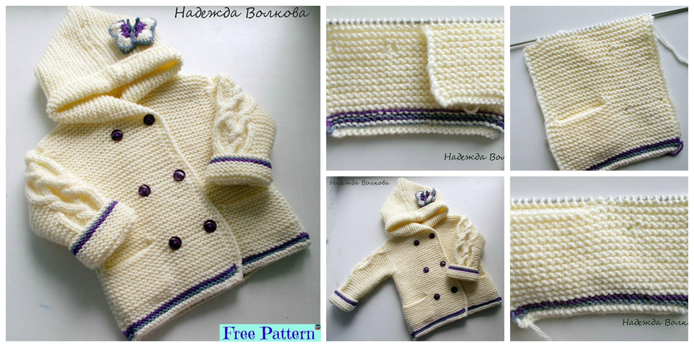 Adorable Knit  Butterfly Jacket – Free Pattern