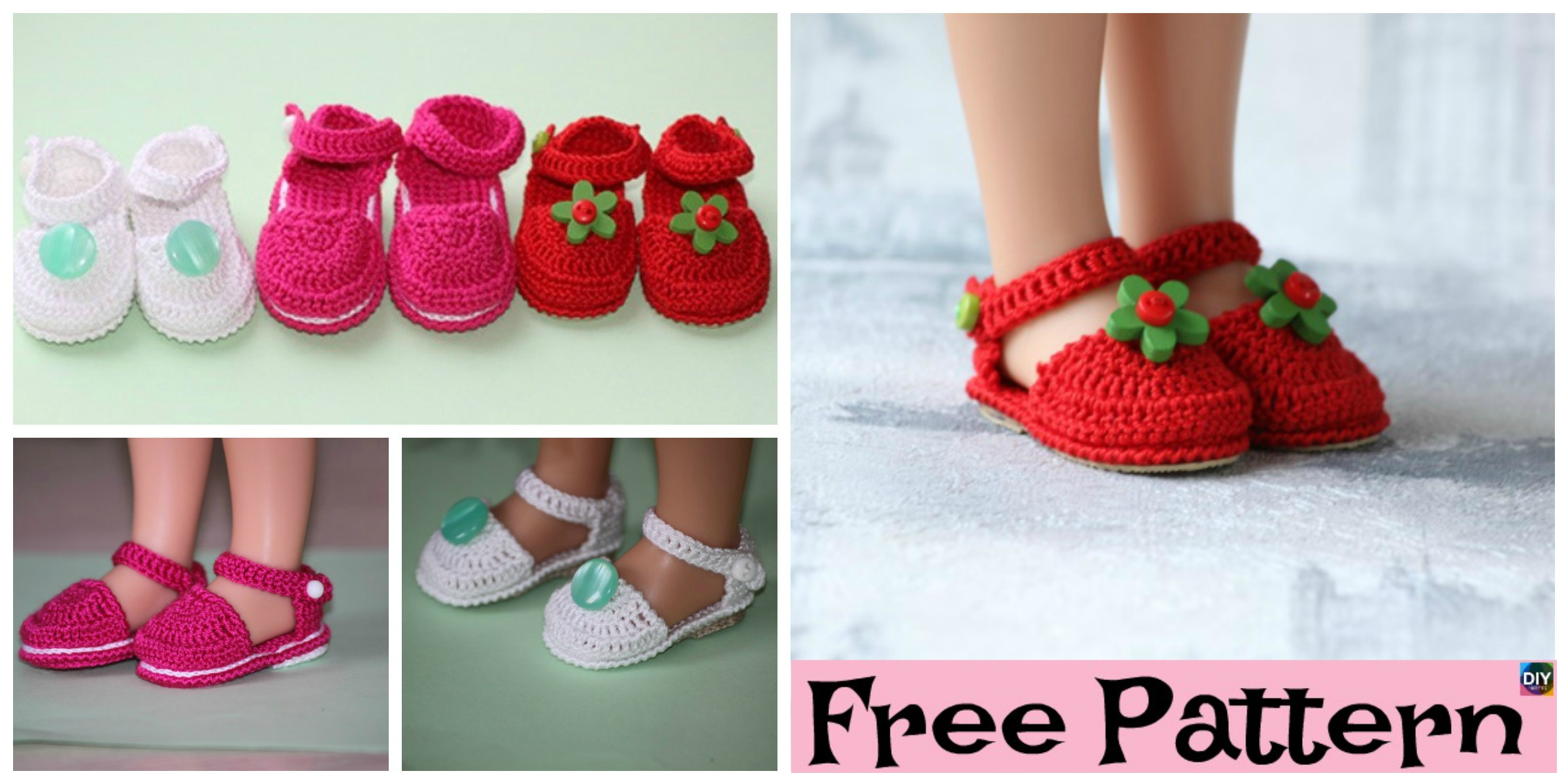 Adorable Knit Doll's Booties – Free Pattern