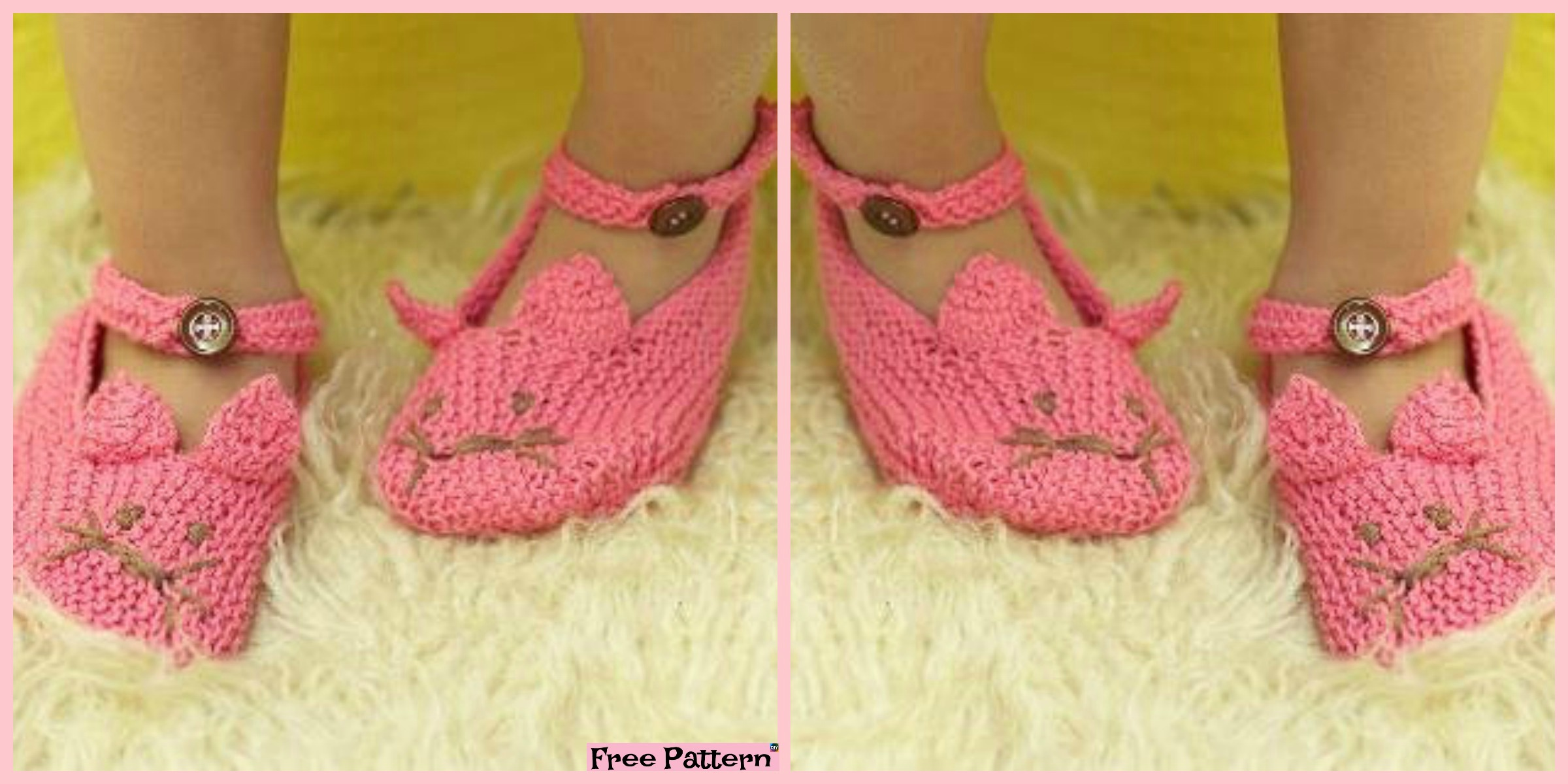Adorable Knit Kitty Slippers – Free Patterns
