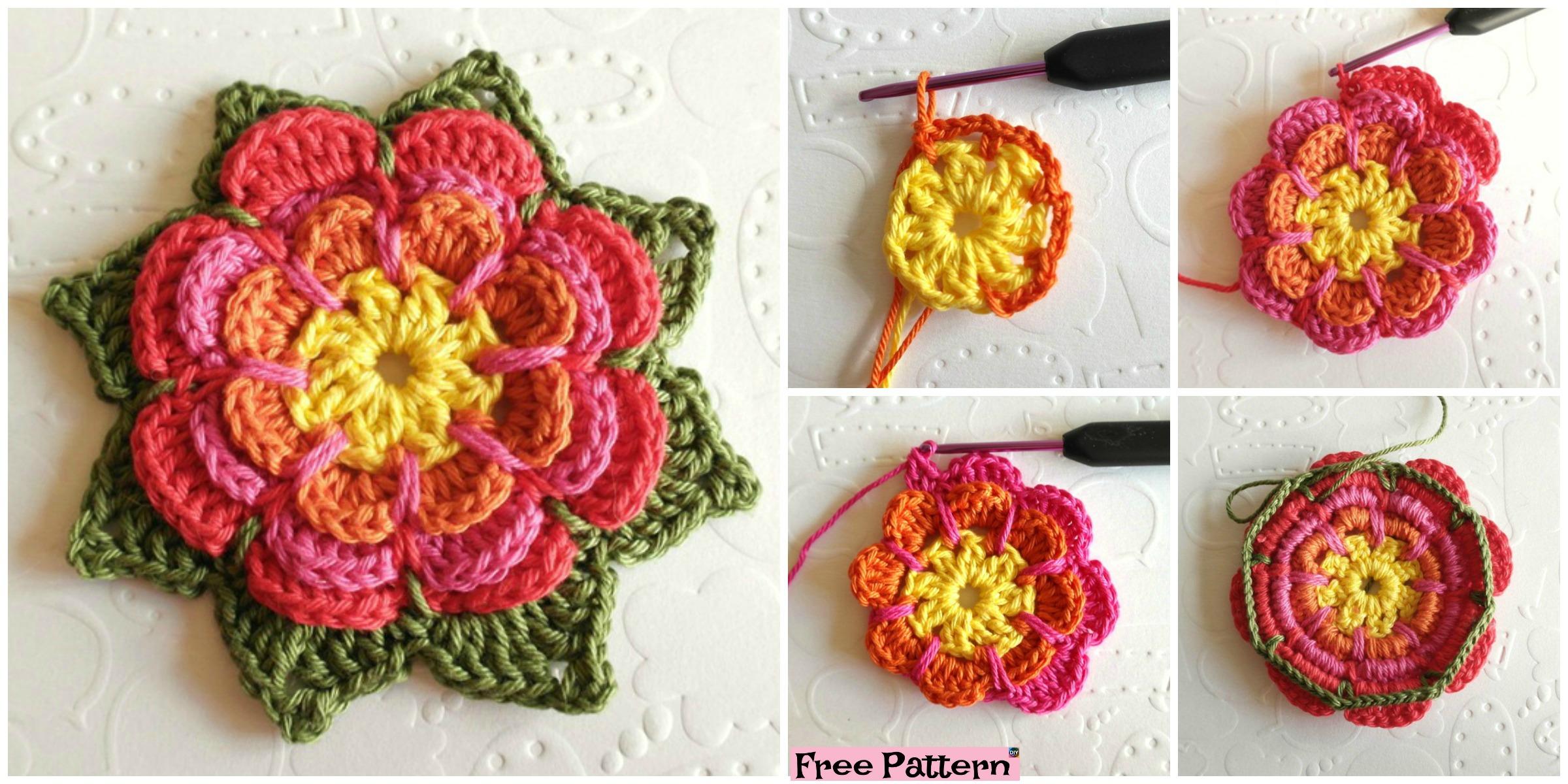Crochet Beautiful Flower – Free Pattern