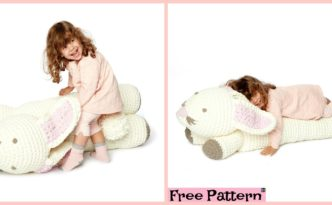 diy4ever- Crochet Bunny Floor Pillow - Free Pattern