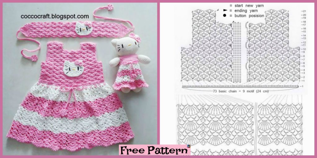 Crochet Sweet Bunny in Dress Amigurumi Free Patterns | 512x1024