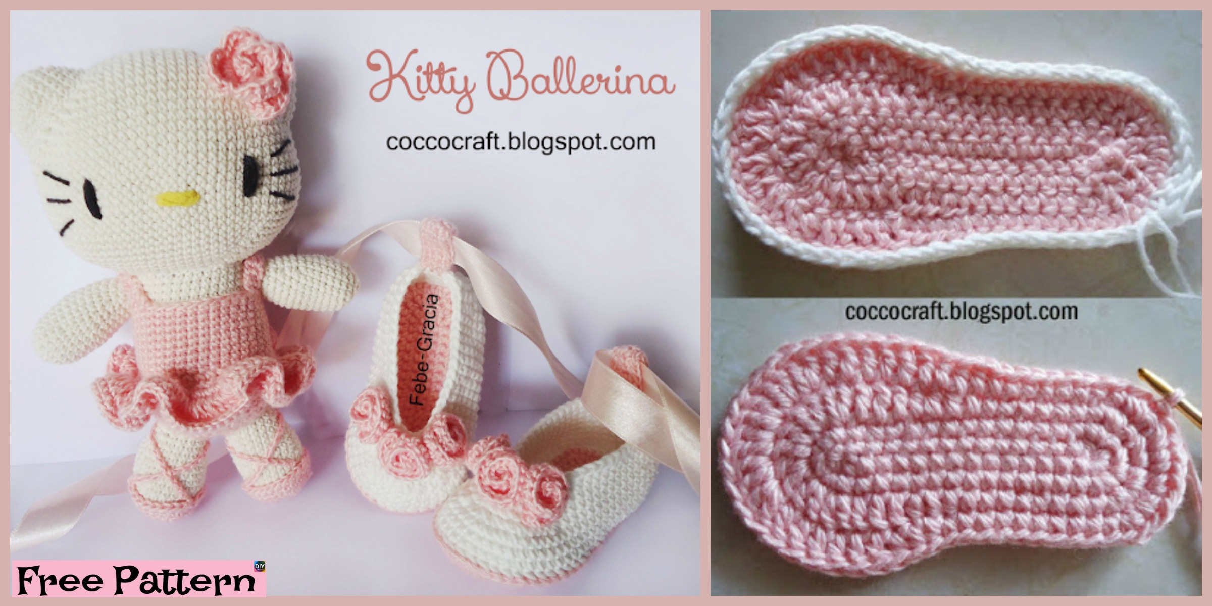 Crochet Kitty Ballerina Amigurumi & Hat – Free Pattern