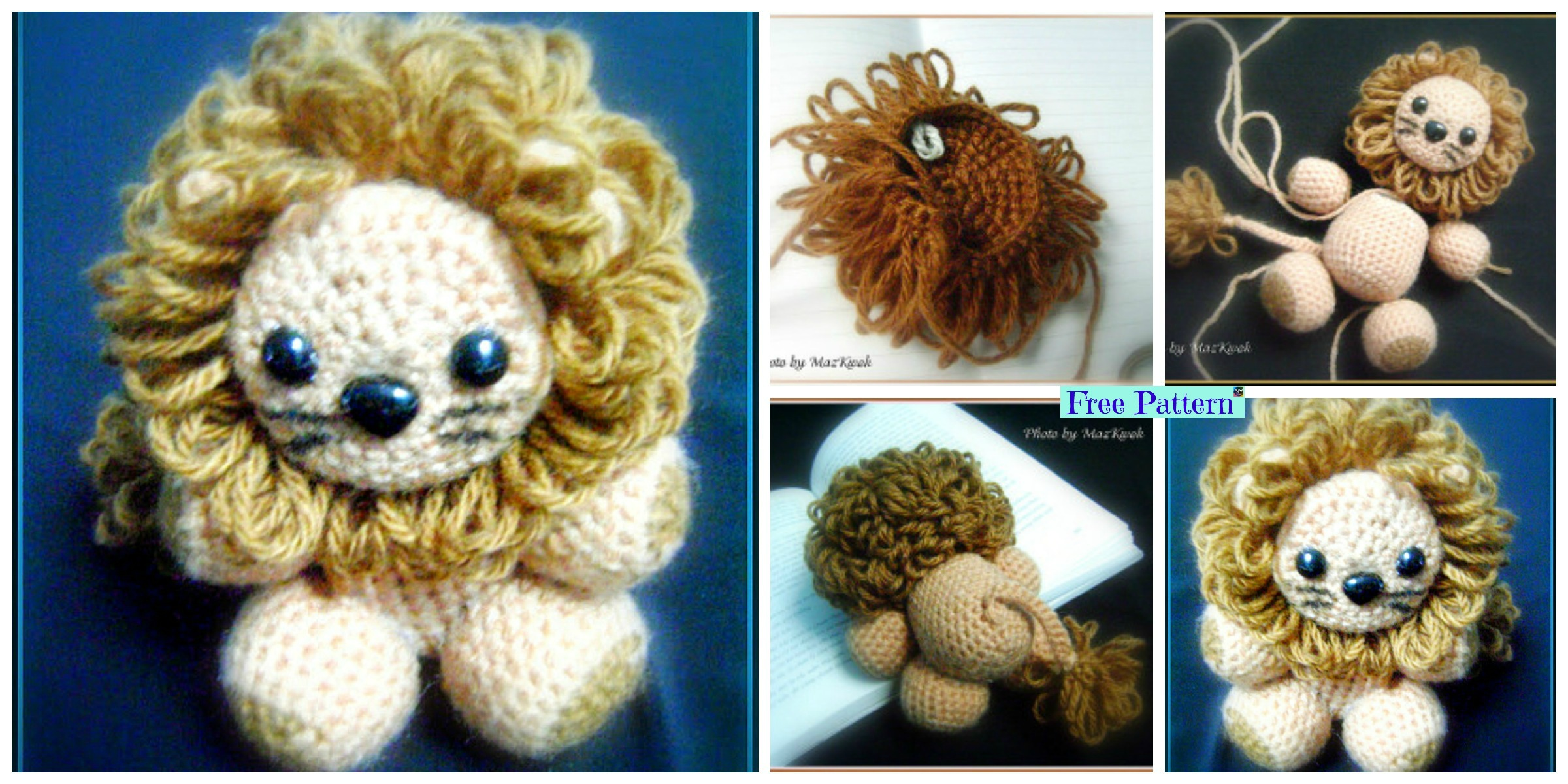 Crochet Lion Amigurumi Patterns – Best & Free DIY Projects | Made ... | 1200x2400