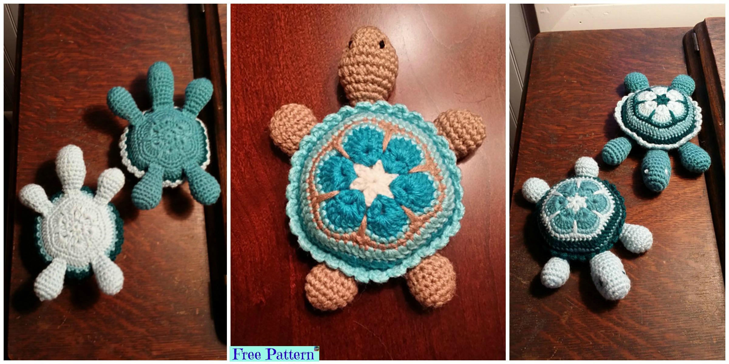 Super Cute Crochet Baby Turtle – Free Pattern