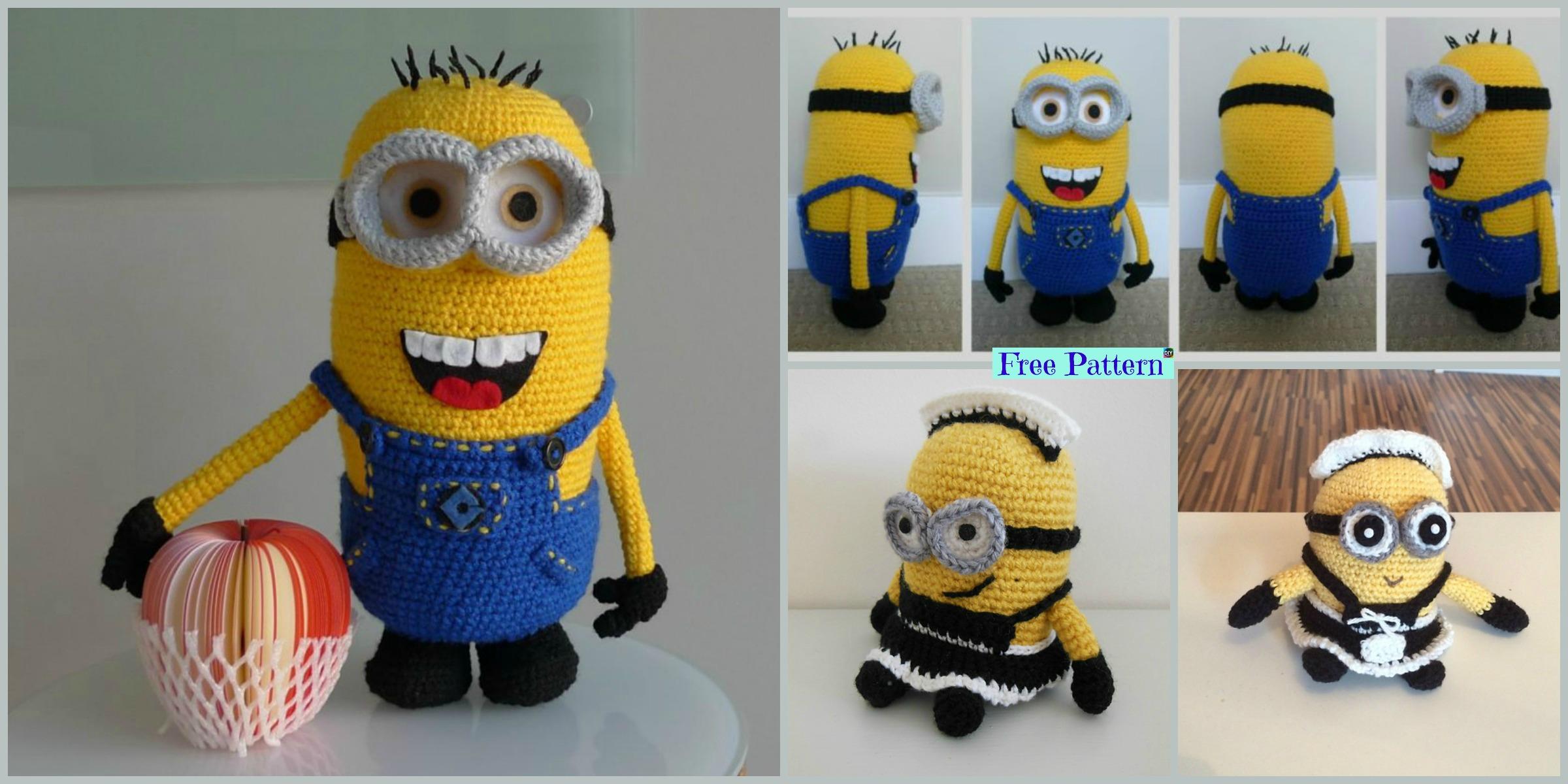 Super Cute Crochet Minion Character- Free Patterns