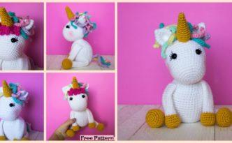 diy4ever-Cute Crocheted Unicorn Amigurumi - Free Pattern