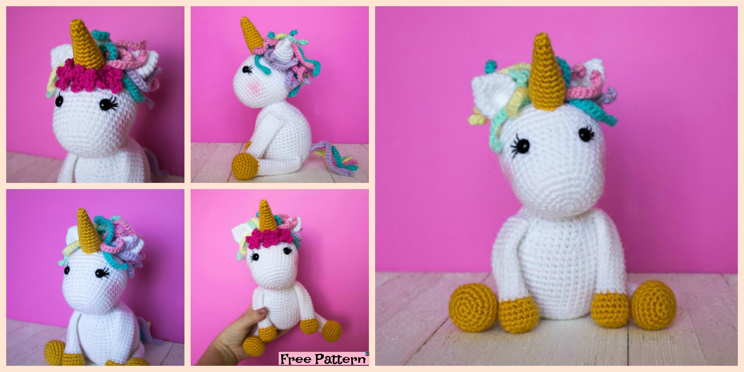 Baby Unicorn Free Amigurumi Pattern & Video Tutorial - Sueños ... | 1200x2400
