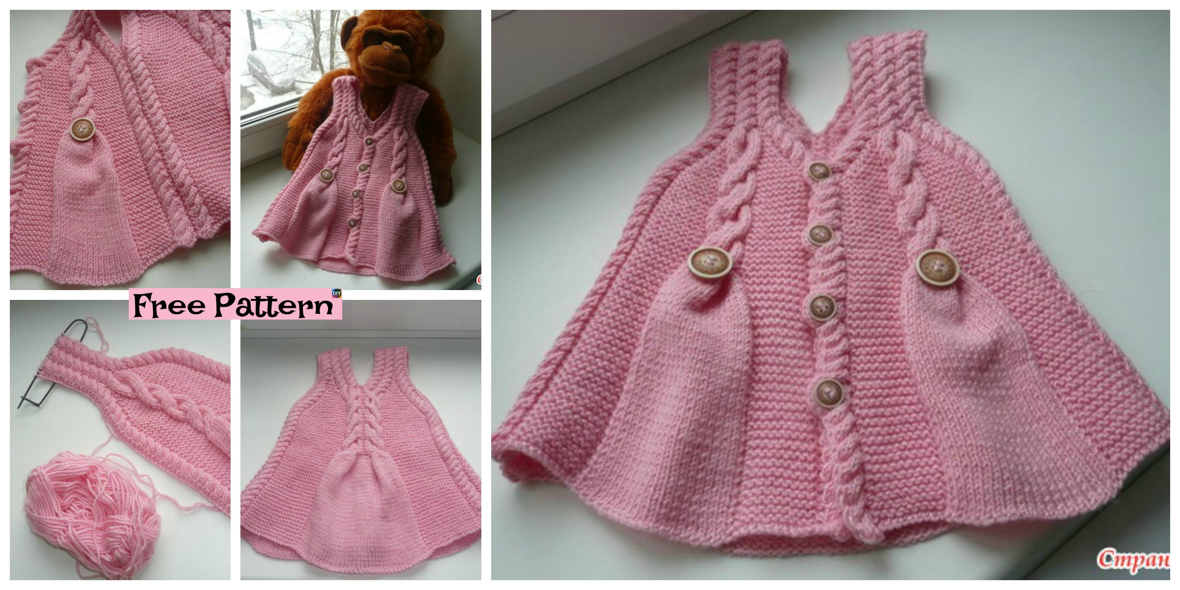 Cute and Pretty Knit Baby Girl Tunic – Free Pattern