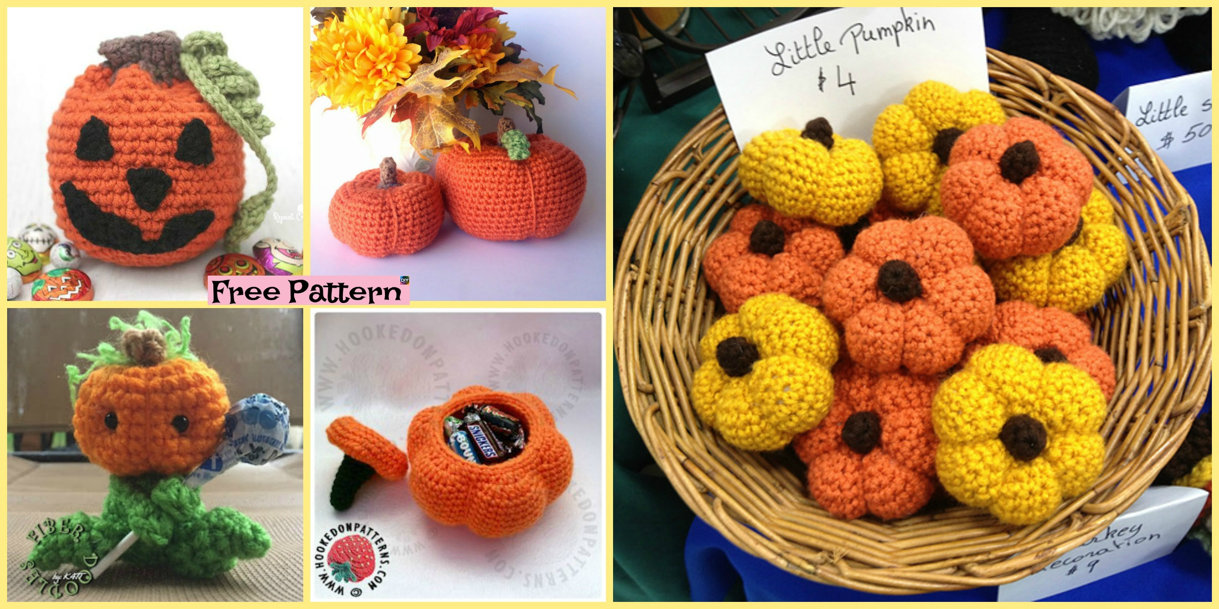 10+ Adorable Crochet Pumpkins – Free Patterns