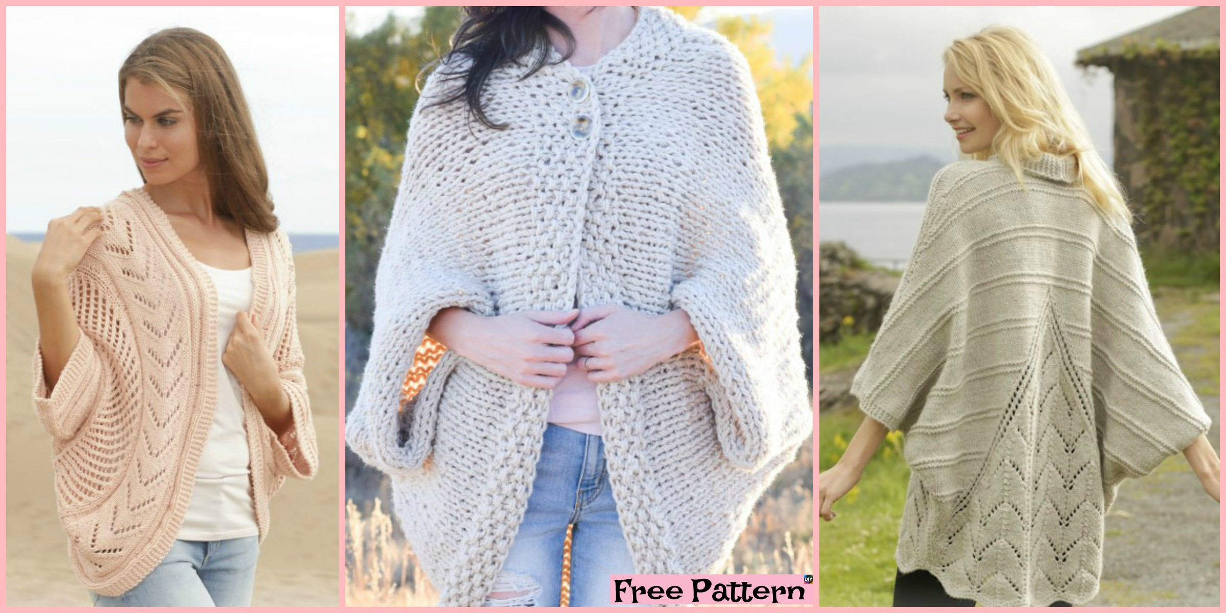 10 Beautiful Knit Blanket Sweater Free Patterns