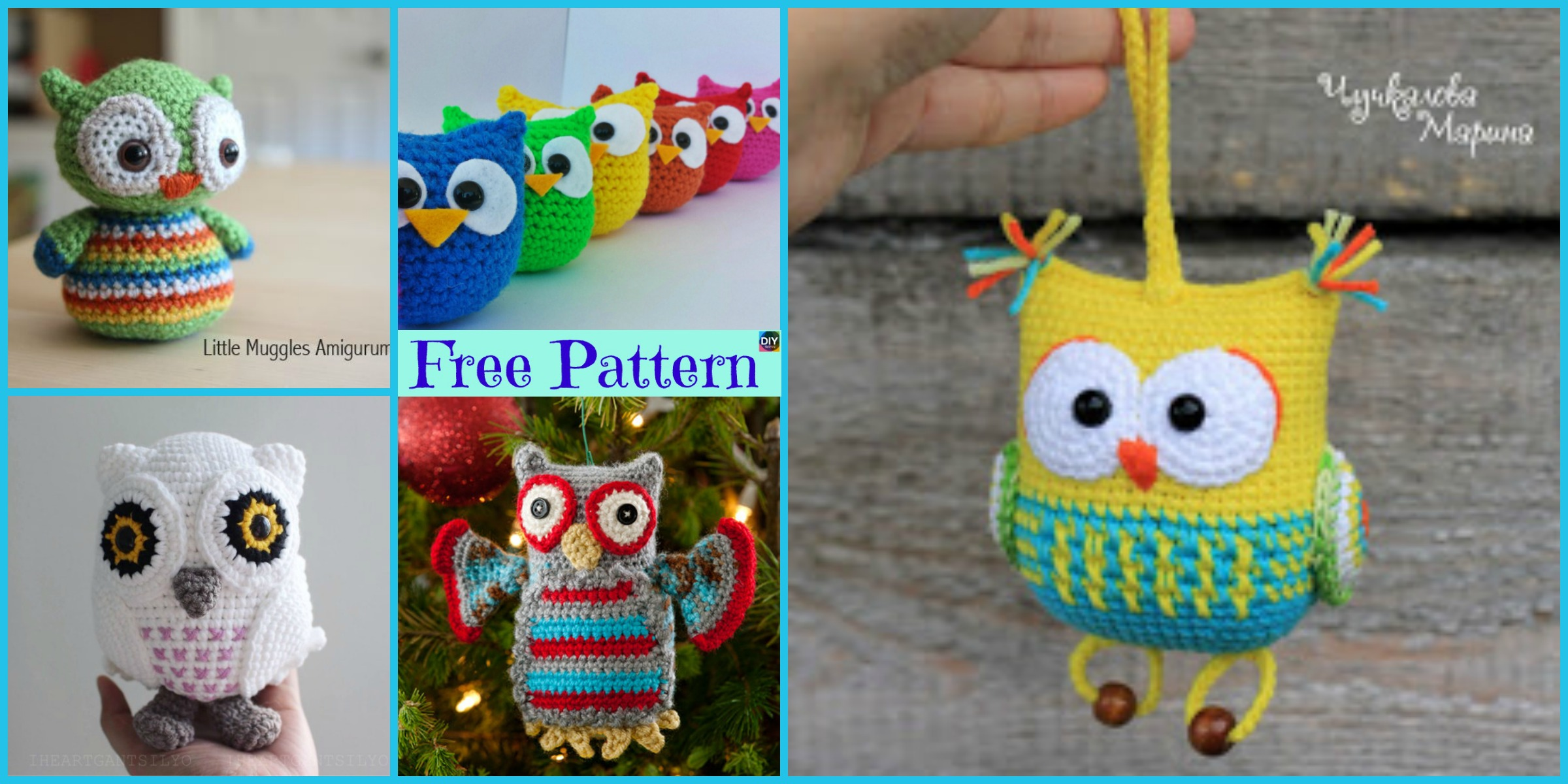12 Cutest Crochet Amigurumi Owl Free Patterns