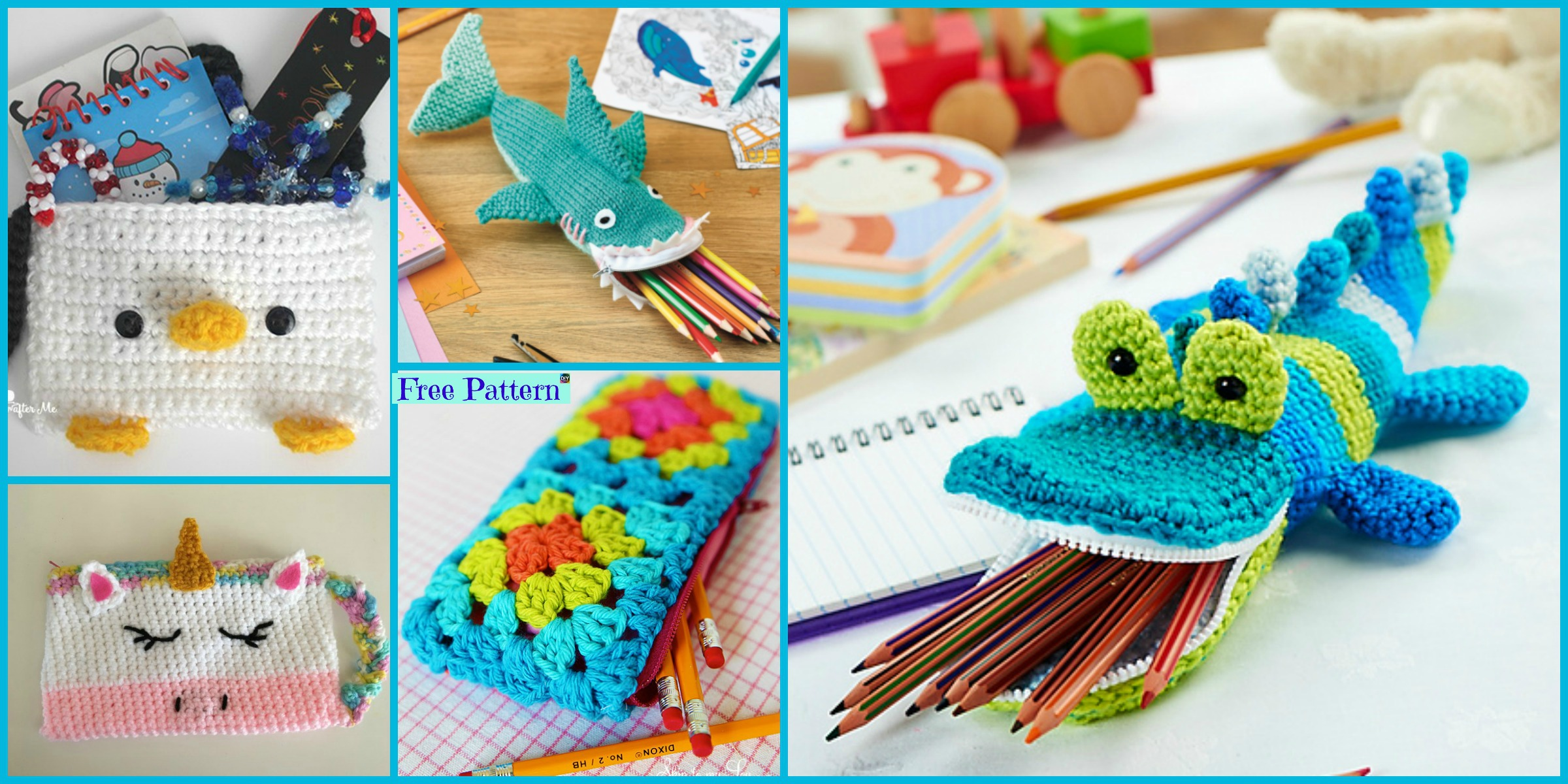 8 Cutest Crocheted Pencil Case – Free Patterns