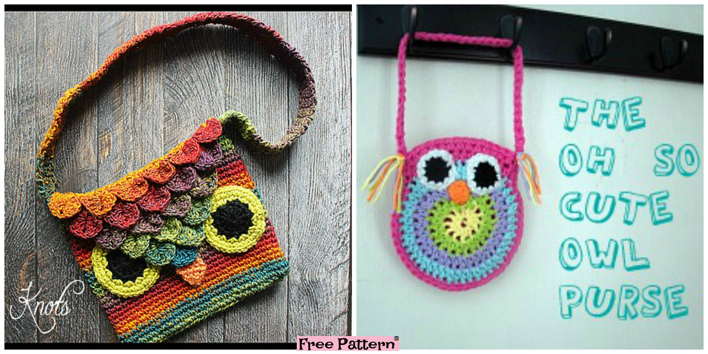 Adorable Crochet Owl Bags – Free Patterns