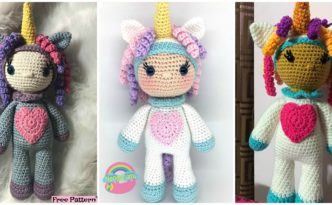 diy4ever-Crochet Unicorn Girl - Free Pattern