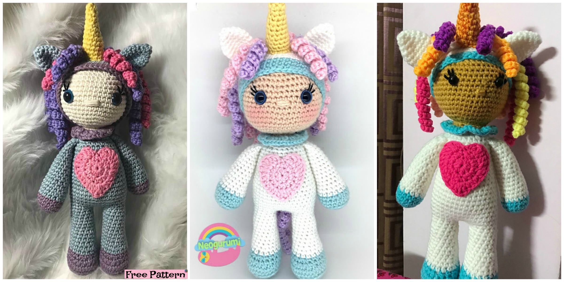 Beautiful Crochet Unicorn Girl – Free Pattern